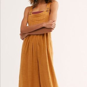free people beachy flowy overalls